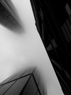 Fog #city #black #view