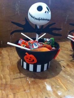 dulcero de jack skellington para halloween                                                                                                                                                     Más
