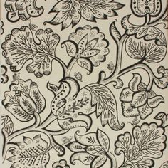 Celia Birtwell Jacobean Wallpaper Charcoal Inspired by 17th century antique textiles