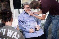 """Bild 1 von 10: """"Das Jenke-Experiment Essstörung"""": Mit Hilfe der Maskenbildner verwandelt sich RTL-Reporter Jenke von Wilmsdorff in einen schwer übergewichtigen (adipösen) Menschen und erlebt dabei nicht nur die Last der Kilos sondern auch die ständigen Diskriminierungen im Alltag."""