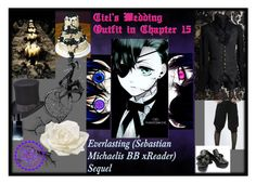 """Ciel's Wedding Outfit in Chapter 15"" by missnerd-liz on Polyvore featuring Lime Crime, Ciel, Scala, Christian Dior, Allstate Floral, men's fashion and menswear"