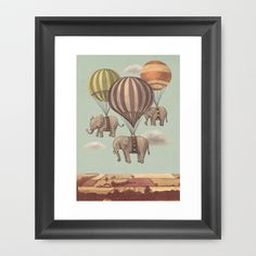 Buy Flight of the Elephants  by Terry Fan as a high quality Framed Art Print. Worldwide shipping available at Society6.com. Just one of millions of…