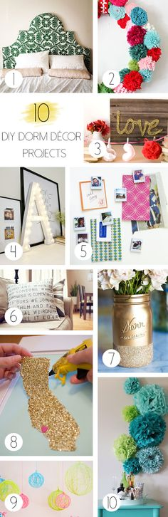 DIY Dorm Decor Projects