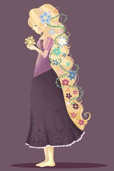 Tangled  Rapunzel Braid Print by cherryblossomcolor on Etsy, $10.00