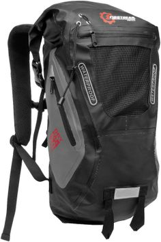 FirstGear Torrent Waterproof 20L Backpack - Insanely waterproof and even includes strategically placed D-rings, handles and webbing straps for easy attachment to your motorcycle!!