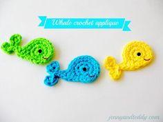 Happy Whale Applique | AllFreeCrochet.com
