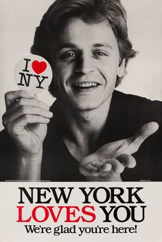 I <3 NY Original New York Travel Poster ~ Mikhail Baryshnikov (1980's)