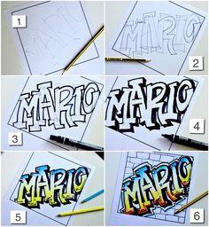 Name in Graffiti style | Arte a Scuola | Bloglovin'