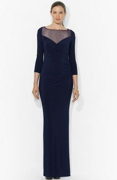 What do you think of this dress for me MOB (mother of the bride)..  It has sleeves to cover my arms, then I wont need lypo...  Lauren Ralph Lauren Long Sleeve Column Gown available at #Nordstrom