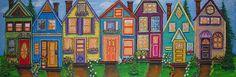 Rainbow Row 2 by Jill Alexander Vibrant Colors, Colours, Fine Art America, Art Deco, Artsy, Rainbow, Wall Art, Studio, Artwork