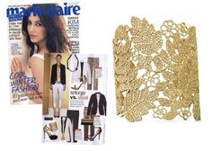 Stella & Dot - Chantilly Lace Cuff as featured in Marie Claire Magazine