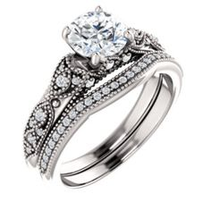 Accented Diamond Engagement Ring Item #123235