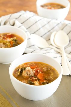 Recipe: Chunky Italian Wedding Soup with Pasta