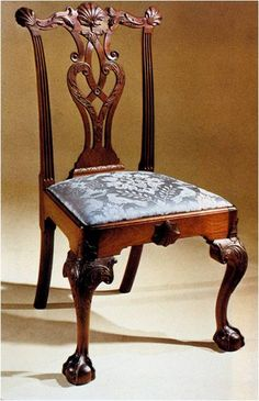 One of my favorite Chippendale-style chairs. Attributed to Thomas Affleck, Philadelphia, ca. 1765-1970