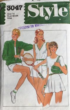 Variations on a domestic theme Style #3046 Unlined Jacket, tennis dress, skirt and shorts 1980