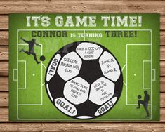 Get the cool Soccer birthday Invitations you've been looking for, for your sport fans soccer Birthday party, featuring Your party information