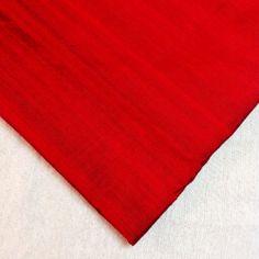 Red / Rust  #RawSilk Ask www.desicraftshop.com