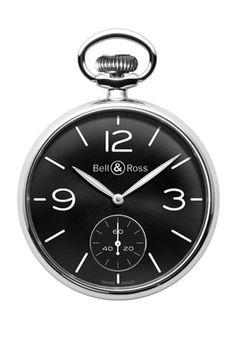 Vintage PW1   Una hermosa reinterpretación de los relojes de bolsillo de principios del siglo pasado, el PW1 (Pocket Watch 1) tiene una caja de 49 mm en acero pulido. Funciones: horas, minutos y segundos independientes. Movimiento de cuerda manual eta 6497. Gents Watches, Cool Watches, Watches For Men, Unique Watches, Bell Ross, Chronograph, Vintage Pocket Watch, Belle, Telling Time