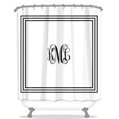 Classic Monogram Personalized Shower Curtain Decorate your bathroom with your very own personalized shower curtain! Our shower curtains are softened polyester fabric and washable, durable, and have reinforced holes for your shower curta Black Decor, Shower Curtain Monogram, Bathroom, Monogram Towels, Personalized Shower Curtain, Curtains, Bathroom Shower, Custom Shower Curtains, Shower Curtain Decor