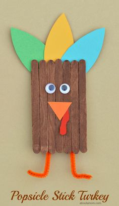 This popsicle stick turkey craft is a great way to get kids excited and involved in the Thanksgiving festivities. This popsicle stick turkey craft is a great way to get kids excited and involved in the Thanksgiving festivities. Thanksgiving Arts And Crafts, Fall Arts And Crafts, Easy Fall Crafts, Fall Crafts For Kids, Kids Thanksgiving, Diy Turkey Crafts, Harvest Crafts For Kids, Turkey Crafts For Preschool, Thanksgiving Activities For Kids
