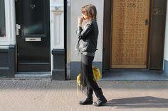 fringe skirt + tights