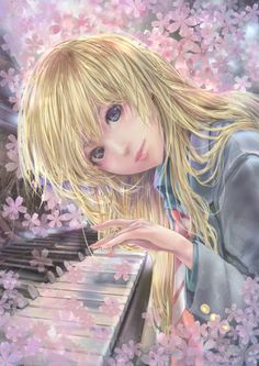 Do you are playing the kind of tone? by protect  Was the anime that cry every story, it is a very pleasant and positive daughter is watching. Your Lie in April. Ignoring Someone, Pink Leaves, Care About You, Cherry Blossom, Violin, Blossoms, Counting, Piano, Black White