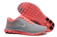 Nike Free 4.0 V2 Women's Running Shoes Watermelon red Gray Outlet For Sale - Women's Nike Free 4.0 V2 Running Shoes