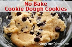 Everybody LOVES cookie dough!!! Now you can make cookie dough and not have to worry about the eggs!  You can cover with chocolate or just put it straight in a bowl in the fridge and take a spoonful whenever you want.  Click here to get this tasty recipe: http://www.livingonadime.com/no-bake-cookie-dough-recipe/