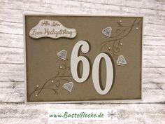 www.bastelflocke.de - Dritter Vorschlag für eine Diamantene Hochzeitstagskarte. Mehr dazu gibt's auf meinem Blog unter www.bastelflocke.de #hochzeit #hochzeitstag #karte #60 #diamant #flüsterweiß #savanne #schnörkel #stempel #perlmutt #halbperlen #knospen #framelits #großezahlen #stampinup #wildleder #schattierung #embossing #winkofstella #allesliebe #zumhochzeitstag #bannerweisegrüße #fürimmer