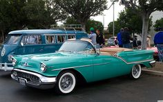1957 Oldsmobile Super 88 convertible - turquoise - fvl by Pat Durkin - Orange County, CA, via Flickr