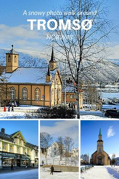 Midnight concert in the Arctic cathedral and an early morning walk through the snow in Tromso European Destination, European Travel, New Travel, Winter Travel, Places Around The World, Travel Around The World, Dear World, Photo Walk, Norway Travel