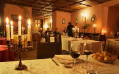 restaurant @ Castello di Petroia, Gubbio (Umbria), Italy