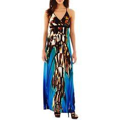 48efc691d76c Bisou Bisou® Print Racerback Maxi Dress - jcpenney  60.00 Racerback Maxi  Dress