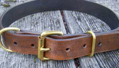 Classic Leather Dog Collar. $39.00, via Etsy.