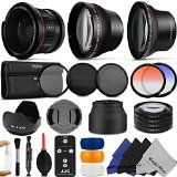 $& Buy Best Price 2014!!! 58MM Professional Accessory Kit for CANON EOS REBEL (T5i T4i T3i T2i T1i XT XTi XSi SL1) - Includes: 0.35x Super Wide Fisheye, 0.43x Wide Angle & 2.2x Telephoto Lenses + Remote Control + Vivitar Filter Kit (UV, CPL, ND8) + Vivitar Macro Close-Up Set + Tulip Lens Hood + Collapsible Lens Hood + Center Pinch Lens Cap + 2 Color Filters + Flash Diffuser Set + Deluxe Cleaning Kit with MagicFiber Microfibers - http://allbeautydeals.com/buy-best-pric