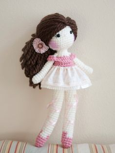 Ballerina Crochet Doll. Ready to ship. __________________________________________ rag doll, crochet doll, plush doll, amigurumi, handmade doll, soft doll, ballerina doll, wool yarn, cotton yarn, one of a kind doll