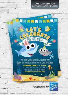 Free Printable Baby Shark Pinkfong Birthday Invitation Template