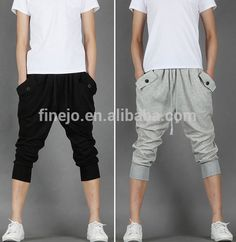 wholesale men's Casual loose Baggy Sweat Sport Harem Shorts Cropped Trousers Pants plus size SV005248, View harem pants wholesale, OEM, brand new Product Details from Shenzhen Finejo Fashion Co., Ltd. on Alibaba.com