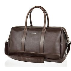 Brown structured holdall bag £45 #riverisland #RImenswear