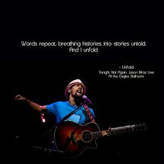 Next stop on the concert train - Jason Mraz, October 16 at the Peabody Opera House in St. Louis. Cannot wait!