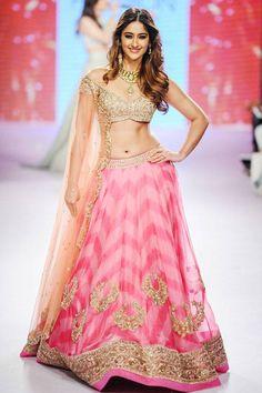Bollywood actress Ileana D'Cruz showcases a creation by designer Anushree Reddy on Day 5 of the Lakme Fashion Week (LFW) Summer Resort 2015, held in Mumbai. (BCCL/Tejas Kudtarkar) See more of : Ileana D'cruz