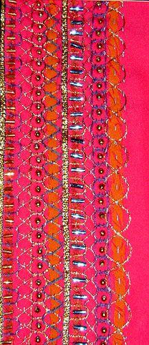 Stitching + beading