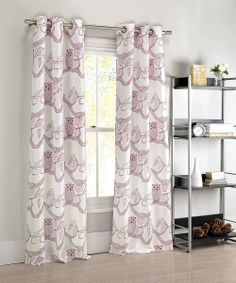 Want! Cranberry Eve Owl Curtain Panel - Set of Two   something special every day