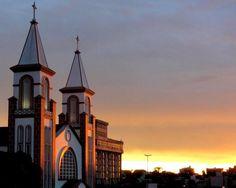 Catedral de Chapecó-SC é um dos cartões-postais da cidade.