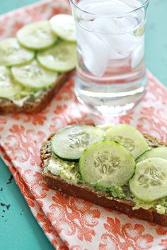 Cucumber and Avocado Sandwich | Good Life Eats....make it on paleo bread!!! Yummo!!