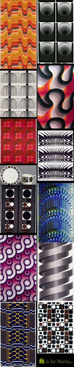 Collage of Barbara Brown textile designs Textile Patterns, Textile Design, Surface Pattern, Surface Design, Vintage Textiles, Pattern Mixing, Op Art, Art Images, Light In The Dark
