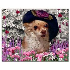 Chi Chi Chihuahua Flowers Puzzle