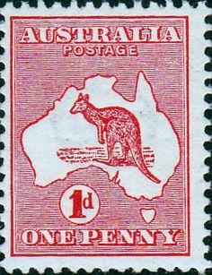 Australia 1913 Kangaroo on Map Fine Used SG 2 Scott 2 Other Australian Stamps HERE