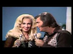 "George Jones & Tammy Wynette - We're Gonna Hold On  ... they said they were in their own little heaven when they sang together... but I guess they just couldn't get it together outside of the stage :( and man and woman can not live on ""stage alone"""