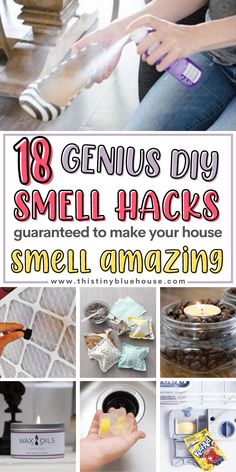 Here are 18 easy ways to make your house smell amazing. Cheap, easy and effective these smell hacks are a guaranteed way to get rid of stale and stinky smells. Homemade Carpet Cleaning Solution, Diy Home Cleaning, House Cleaning Tips, Diy Cleaning Products, Cleaning Solutions, Cleaning Hacks, Deep Cleaning, Spring Cleaning, House Smell Good